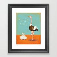 Confident Ostrich Framed Art Print