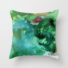 Blue Textured Abstract Throw Pillow