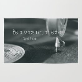 Be a voice not an echo Rug