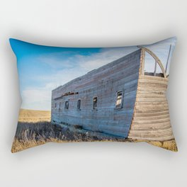 Roofless Barn, Backroads Farmstead, Valley County, MT Rectangular Pillow