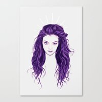 lorde Canvas Prints featuring Lorde by Electra Sinclair