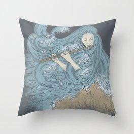 Ocean Symphony Throw Pillow