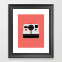 Polaroid One Step Land Camera Framed Art Print