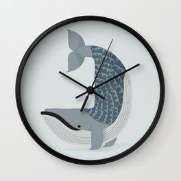 Whimsical Blue Whale Wall Clock