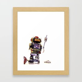 Robot Attack Framed Art Print