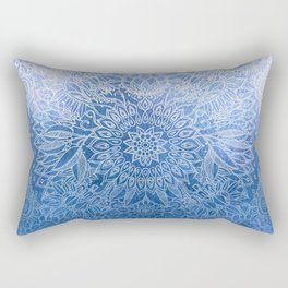 Enchanted Indigo - watercolor + doodle Rectangular Pillow