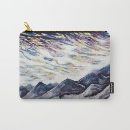 Undulate (Rocky Mountain/ Sea Crashing scene in Deep Purples) Carry-All Pouch