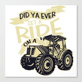 Tractor Farmer Gift Shirt Farmer Trecker Cool Canvas Print
