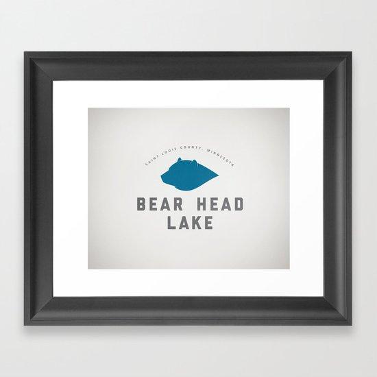 Bear Head Lake Framed Art Print
