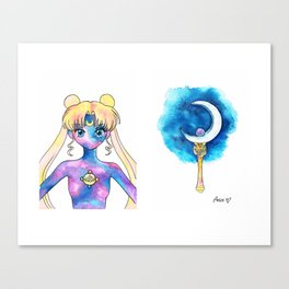 Crystal Moon Power Canvas Print