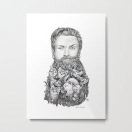 Kitten Beard Metal Print