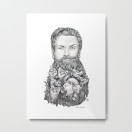 Kitten Beard Metal Print