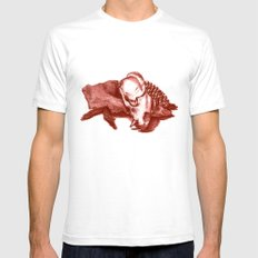 Sketchy Skull White Mens Fitted Tee SMALL