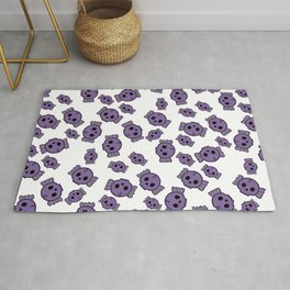 Cute Purple Candy Skulls Pattern - Kawaii Goth Rug