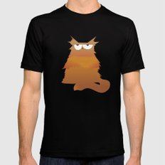 Cat Black SMALL Mens Fitted Tee