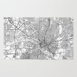Dallas White Map Rug