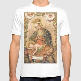 The Virgin Adoring the Christ Child with Two Saints T-shirt