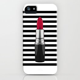 Girl Room Decor,Wake Up And Makeup,Makeup Wall art,Lips Print,Typography Art,Wake Up,Good Morning iPhone Case