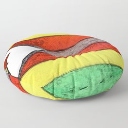 Zimbabwe Flag Drawing Extrapolated Solid Brick Eagle Star Floor Pillow