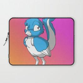 Light Blue/Color-Or-Paint-Your-Own Reptilian Bird 3 #ArtofGaneneK #Animal Laptop Sleeve