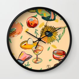 COCKTAILS IN THE GARDEN Wall Clock