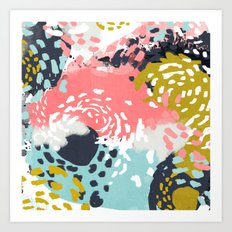 Athena - abstract painting hipster home decor trendy color palette art gifts Art Print