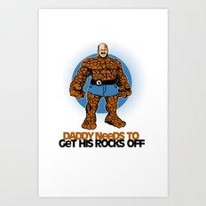 Rocks Off! Art Print