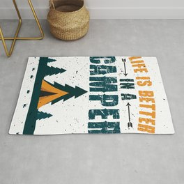 Life Is Better In A Camper Rug