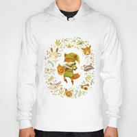fox Hoodies featuring The Legend of Zelda: Mammal's Mask by Teagan White