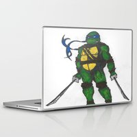 ninja turtles Laptop & iPad Skins featuring Ninja Turtles Leo by minusblindfold