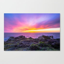 California Dreaming - Brilliant Sunset in Big Sur Canvas Print