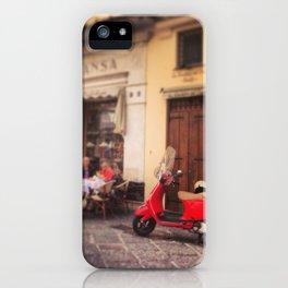 Italy-Vintage Vespa Photo iPhone Case