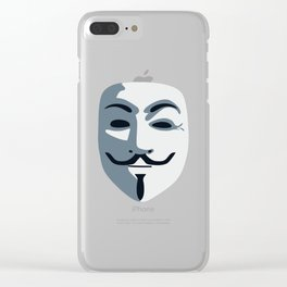 Anonymous Mask #society6 #decor #buyart #artprint Clear iPhone Case