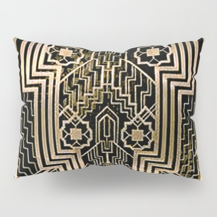 Art Nouveau Metallic design Pillow Sham