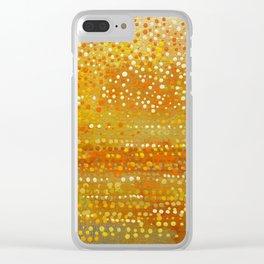 Landscape Dots - Orange Clear iPhone Case