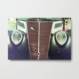 Classic Ford Grille Metal Print