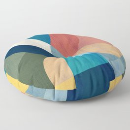 Waterfall and forest Floor Pillow