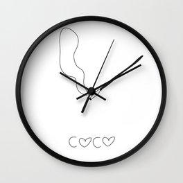 coco. Wall Clock