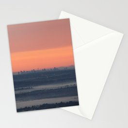 Sydney sunrise on a foggy winter morning Stationery Cards