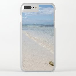 Caribbean Paradise Beach Clear iPhone Case