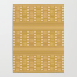 Lines and Circle in Mustard Poster