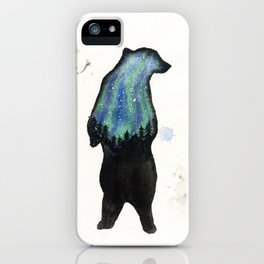 Aurora Borialis Bear iPhone Case