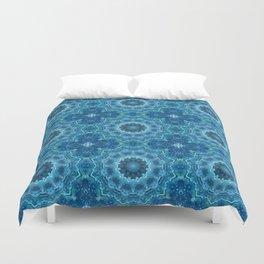 Blue mandala . Kaleidoscope . Winter . Duvet Cover