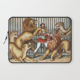 The Lion Tamer - Vintage Circus Art, 1873 Laptop Sleeve