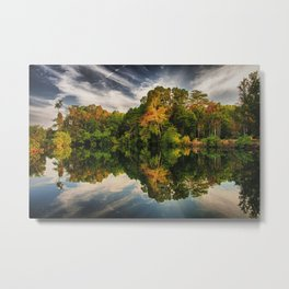 Reflections at the water hole in Howard Springs National Park in Darwin, Australia. Metal Print