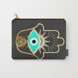 hamsa evil eye gold foil print Carry-All Pouch