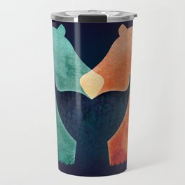 A Tail of Two Horses Travel Mug