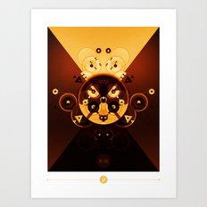 Ying-Yang Gold Cross Version Art Print
