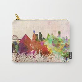 Memphis skyline in watercolor background Carry-All Pouch