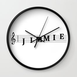 Name Jimmie Wall Clock